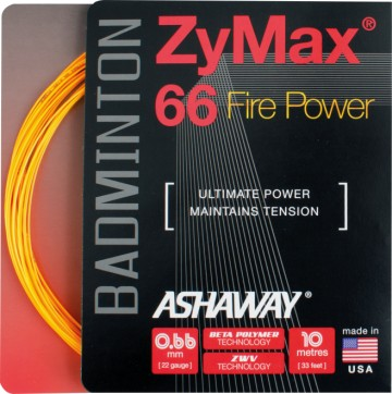 Ashaway ZyMax 66 Fire-box Orange