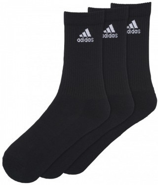 Adidas Performance Crew Black 3 Pack