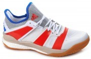 Adidas Stabil X White Solar Red buty do badmintona