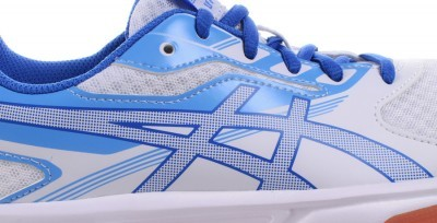 Asics Upcourt 2 White/Blue buty do badmintona damskie