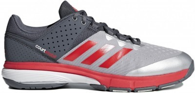 Adidas Court Stabil 14 Silver Red buty do badmintona