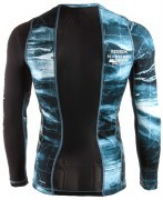 koszulka męska Reebok Combat Long Sleeve Rash Guard Blue