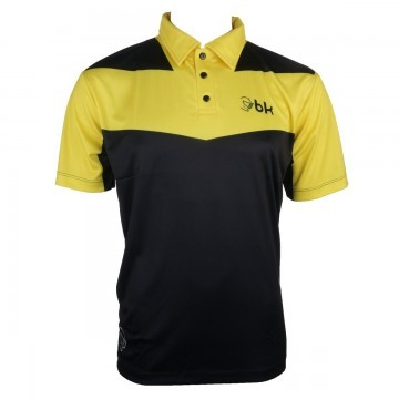 Black Knight Tangent Polo Black / Yellow