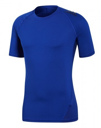 Adidas Alphaskin Sport Short Sleeve Tee Blue