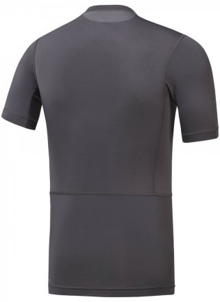 Reebok Workout Short Sleeve Solid Compression Grey