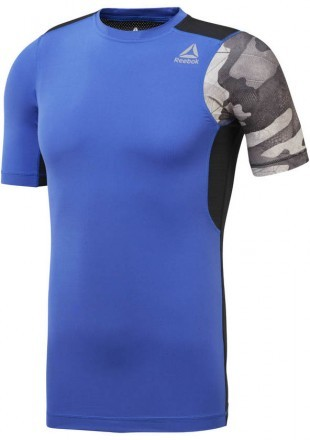 Reebok Activchill Graphic Compression Tee Blue Moro
