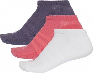 Adidas 3 Stripes No-Show 3 Pack Pink Purple