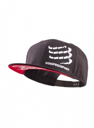 Compressport Flat Cap Black