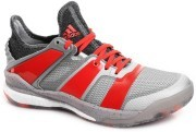 Adidas Stabil X Silver Red buty do badmintona