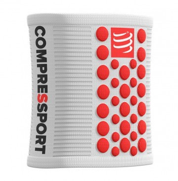 Compressport Sweatband White/Red