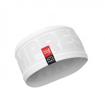 Compressport Headband V2 On/Off White