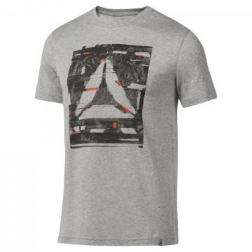 Reebok GS Glitch Delta Tee Grey Red