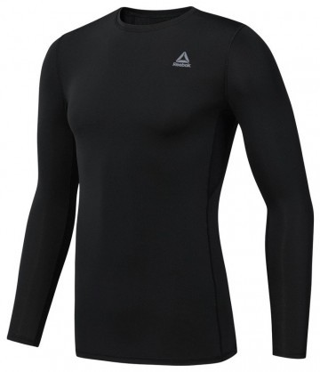 Reebok Wor Compression Long Sleeve Solid Black