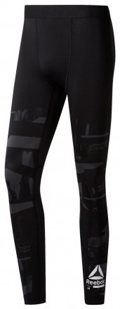 Reebok Ost Comp Tight Aop Cold Grey