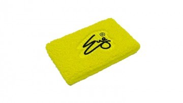 Eye Wristand Neon Yellow with Black Logo 2szt