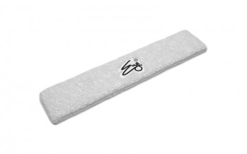 Eye Head Band White with Black Logo