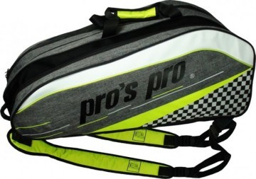 Pro's Pro 12-Racketbag Gray / Lime