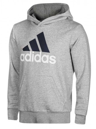 Adidas Essentials Linear Pullover Fitted Grey