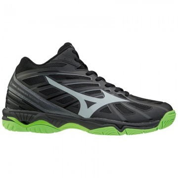 Mizuno Wave Hurricane 3 MID Black / Green Gecko