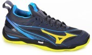 Mizuno Wave Hurricane 3 Mid Blue Yellow buty do badmintona