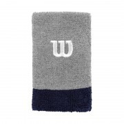 Wilson Extra Wide Wristband Grey Navy 2Pack