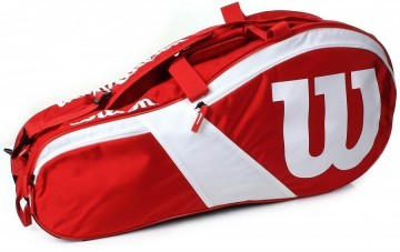 Wilson Match III 6R Bag Red / White