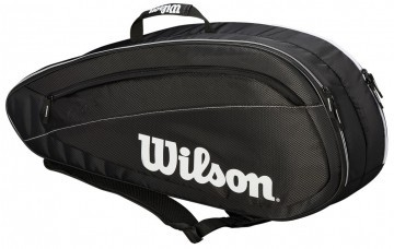 Wilson Fed Team 6 Pack 6R Bag Black / White