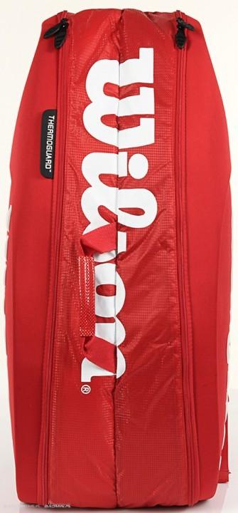b7abd70f497f4 Torba Wilson Tour Molded 9PK Bag czerwona - Torby na rakiety