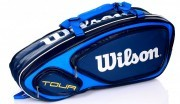 Wilson Tour V 9 Pack Blue torba do badmintona