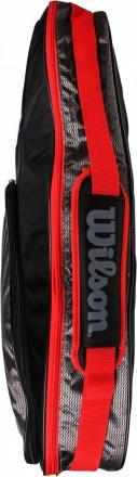 Wilson Team III 3Pack Bag Black Grey