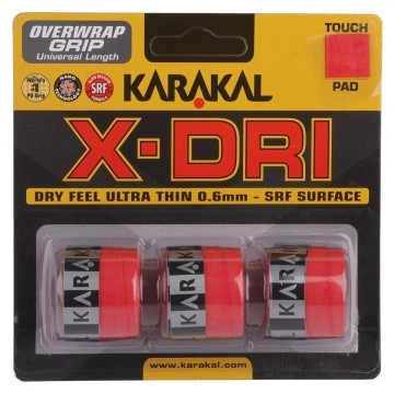 Karakal X-DRI Grip 3szt Red