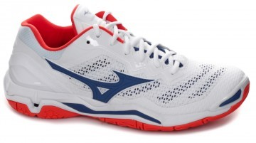 Mizuno Wave Stealth V White / Reflex Blue