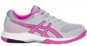 Asics Gel-Rocket 8 Mid Grey Pink Glow buty do badmintona damskie