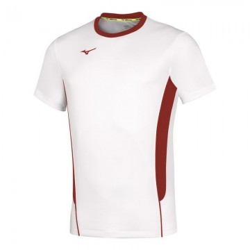 Mizuno Authentic Hi-Kyu Tee White / Red