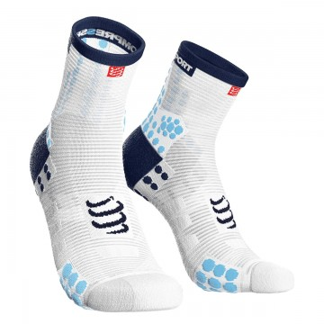 Compressport RacingSocks V3.0 Run Hi White Blue